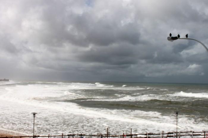 Stormy seas at Newcastle Beach