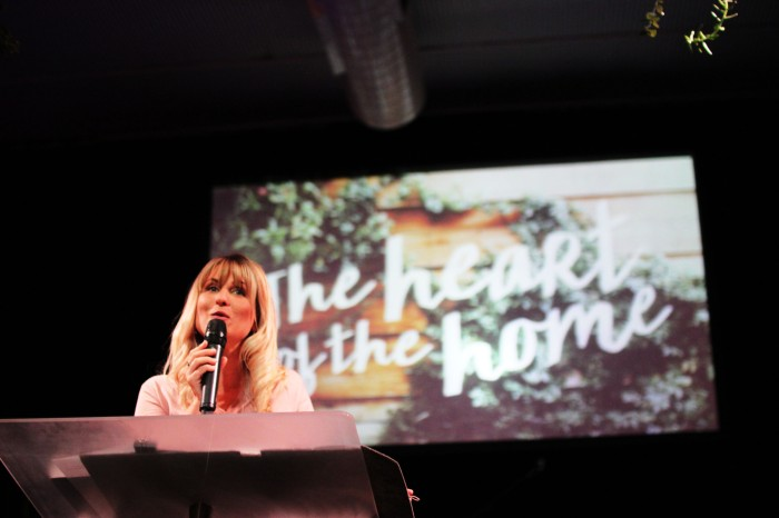 The stunning Ps Erika preaching on the heart of the home on Mothers Day
